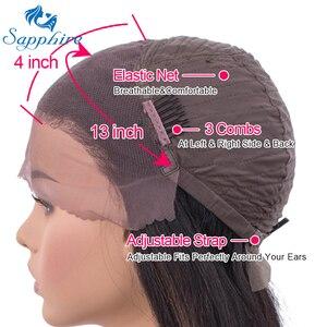 Image 3 - ספיר 13*4 תחרה פרונטאלית שיער טבעי פאות ברזילאי ישר תחרה פרונטאלית פאה מראש קטף תינוק שיער קצר שיער טבעי תחרה פאות