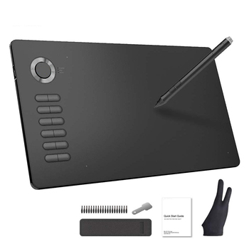 VEIKK A15 Drawing Tablet 10x6 inch Graphic Pen Pad with Battery-Free Passive Stylus 12 Shortcut Keys xp pen star05 wireless 2 4g graphics drawing tablet pad painting board with touch hot keys and battery free passive stylus