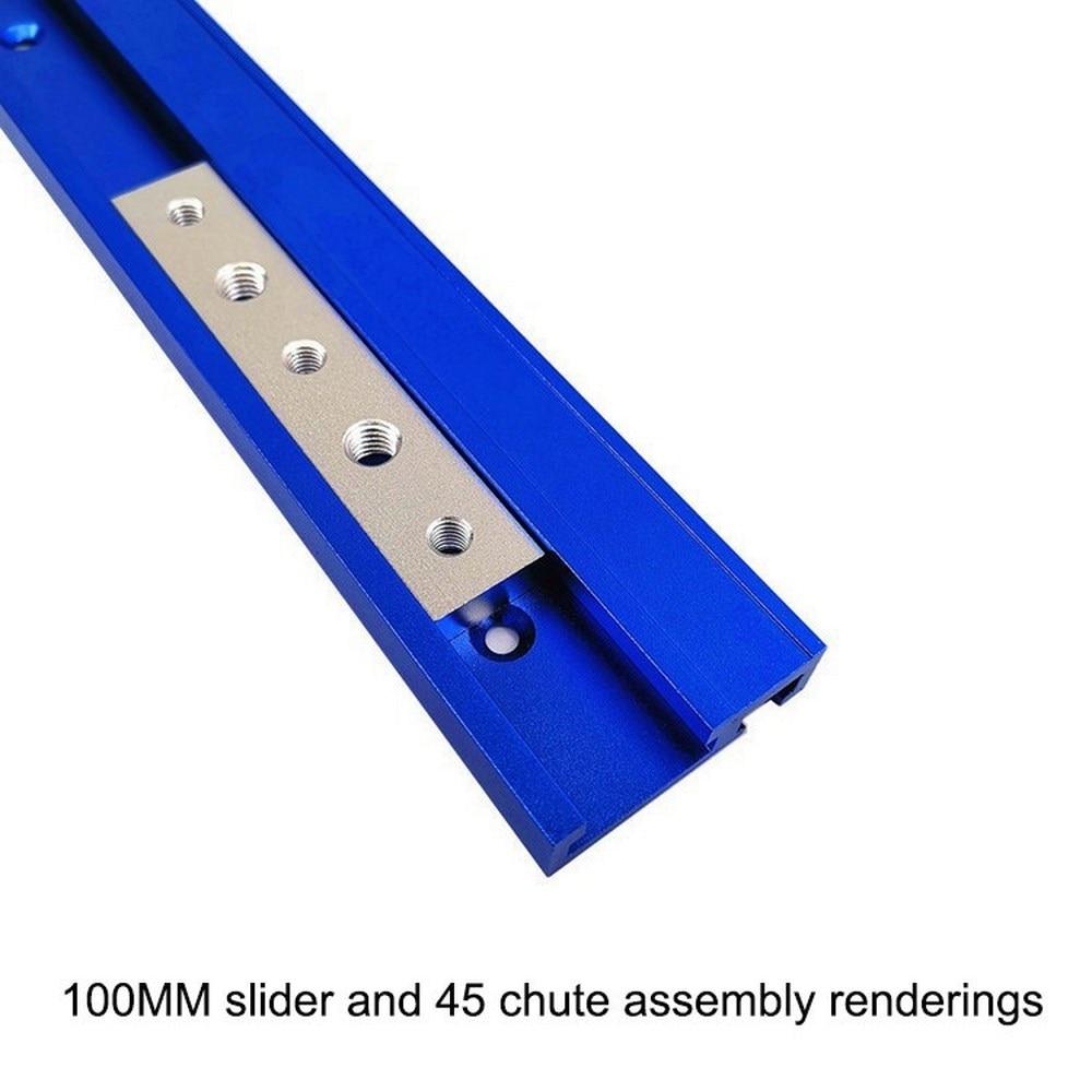 T-track Slider Sliding Nut Aluminum Alloy T Slot Nut Jigs Screw Slot Fastener 100MM/200MM /300MM /400MM Woodworking Tools