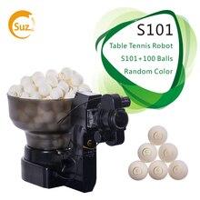 Suz Tafeltennis Robot S101 Ping Pong Training Machine Automatische Tafeltennis Trainer Voor 40 + Ballen