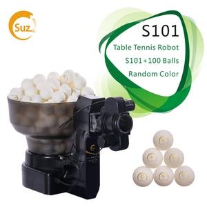 Image 1 - Suz Tafeltennis Robot S101 Ping Pong Training Machine Automatische Tafeltennis Trainer Voor 40 + Ballen
