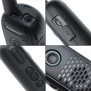 Image 5 - 2 sztuk ABBREE AR Q2 Mini przenośne walkie talkie podwójny PTT ładowania USB VOX dwukierunkowe Radio Transceiver przenośny UHF 400  470MHz