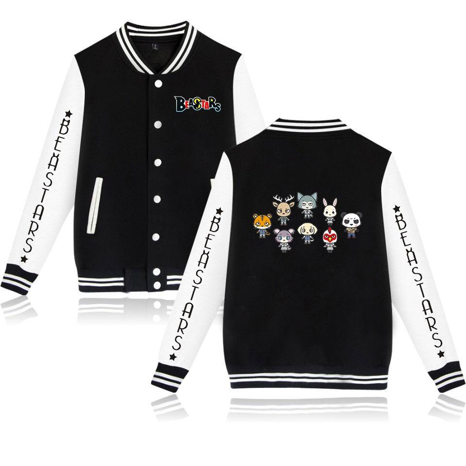 Unisex Anime BEASTARS Coslplay Baseball Jacket Coat Sweatshirt Legosi Haru Casual Men Women Hoodies Uniform Outwear