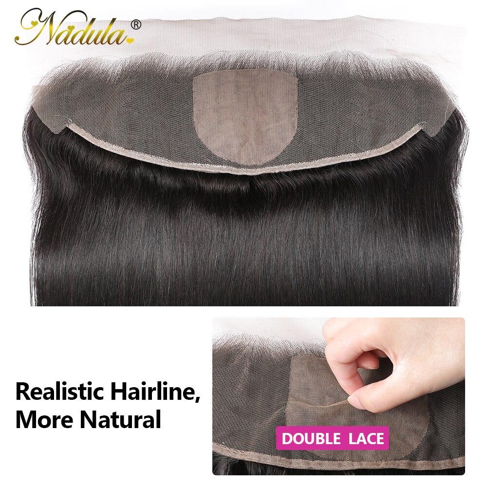 Nadula Straight  13x4 Lace Frontal Closure  Straight Hair Frontal 4x4 Silk Base Closure 5
