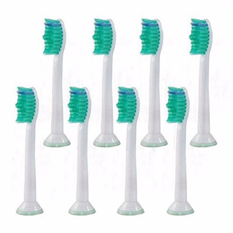 8pcs HX6014 Generic Electric Sonic Replacement Brush Heads Fits For Philips Sonicare Toothbrush Heads Soft Bristles Proresults image