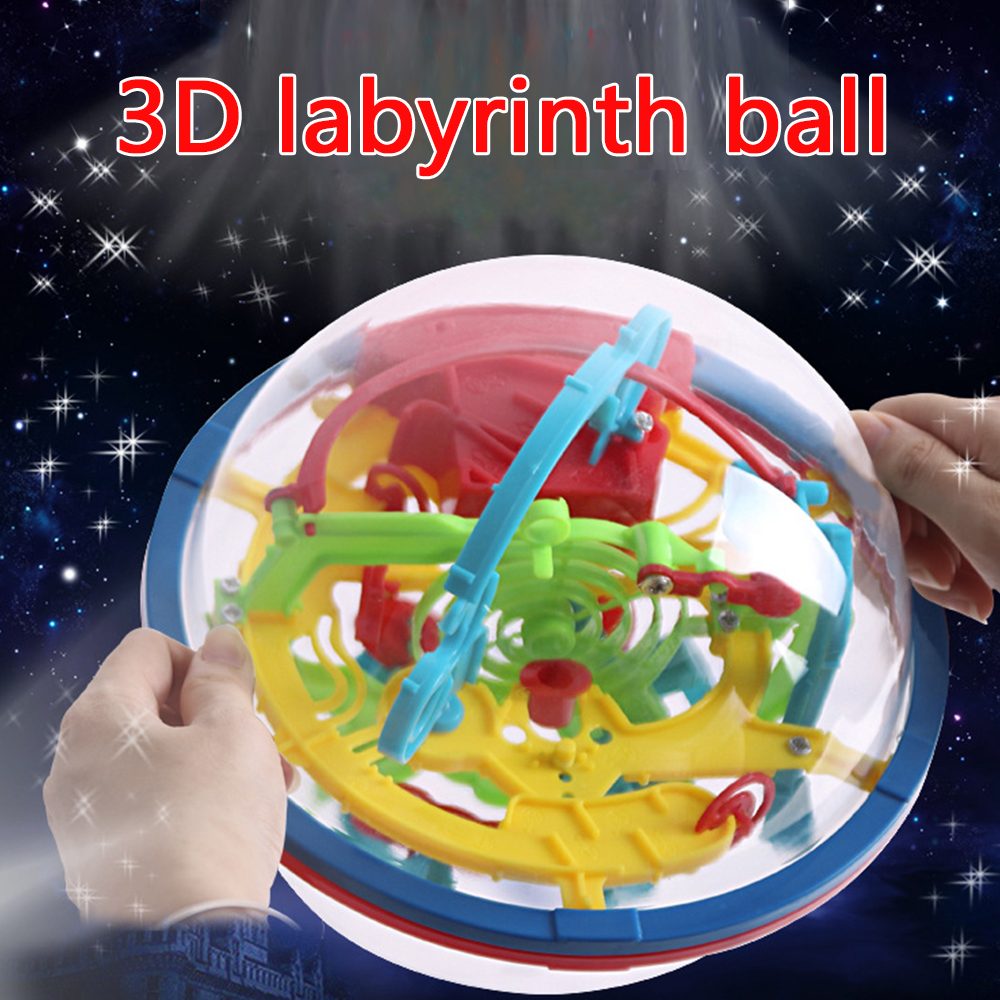 Puzzles 3D labyrinth ball toy Magical Intellect Children educational toys 100 levels intelligence stereo puzzle game for kid