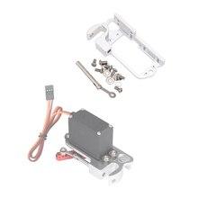 Interruptor de alumínio leve do dispositivo do lance servo dispensador zangão lançador adaptador ar que deixa cair o sistema para mg995 25t braço