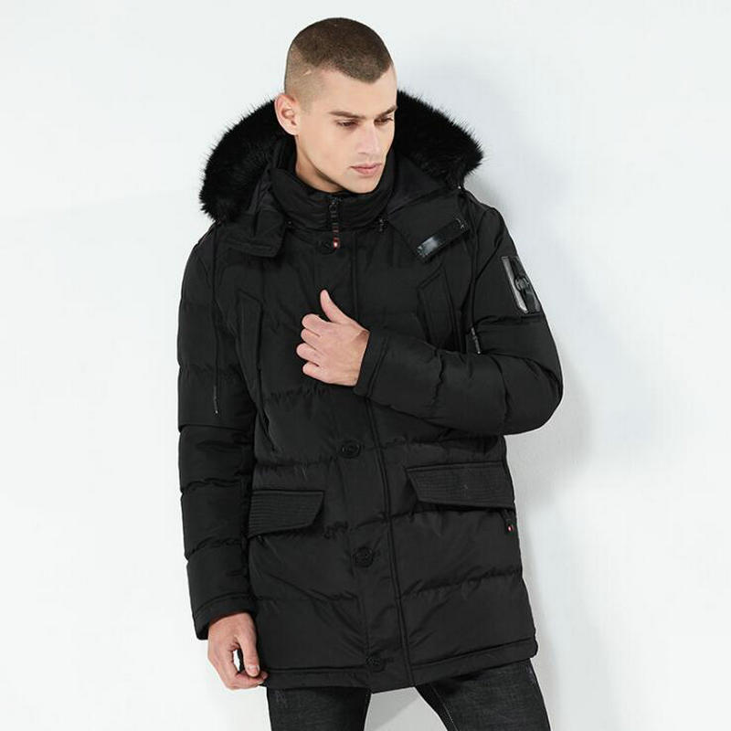 New Fashion High Quality Winter Jacket Men Nice New Parka Coat Men Fur Hood Male Jacket Cold Casual Parks Warm Thickening Coat