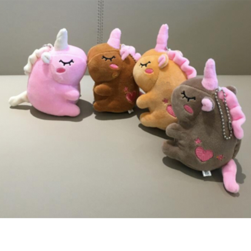 Wholesale 50pcs/lot 12cm Unicorn Plush Toys Animal Stuffed Key Chain Stuffed Animal Plush Toy