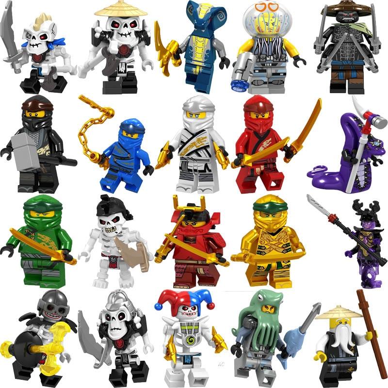 Ninjagoinglys Legoelys Figures Frakjaw Garmadon Jay Zane Kai Lloyd Samukai Cole Harumi Pythor Nuckal Wu Building Block
