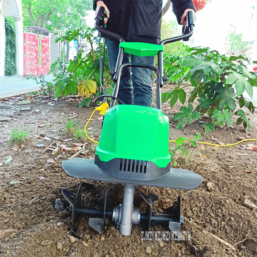 TLEG-01A Mini Tiller Electric Plough Machine Cultivator nbsp Scarifier Garden Household Soil Ploughing Digging Loosening Equipment