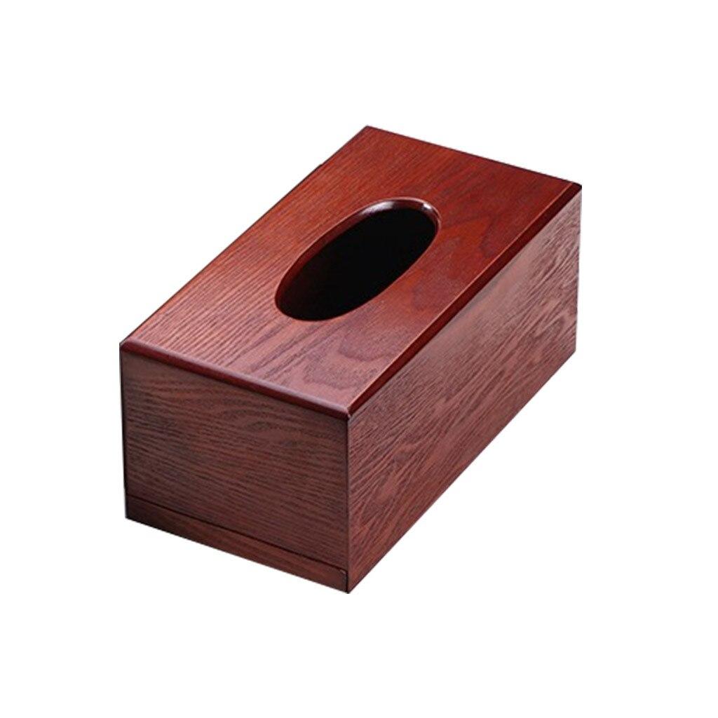 Деревянная коробка для салфеток, деревянная коробка для хранения салфеток прямоугольной формы, Рабочий стол для гостиной, бумажный лоток, коробка для хранения бумаги - Color: D