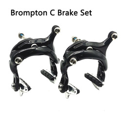 Aceoffix for 2018 2019 2020 Brompton Bike C Brake Set Black Dark Glossy clipper bicycle Accessories For 3Sixty