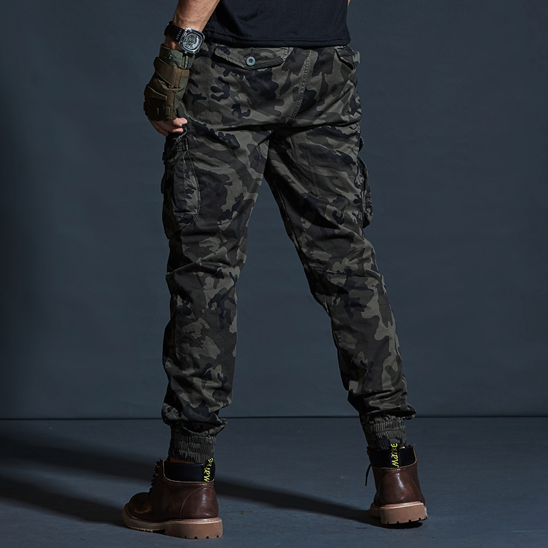 Image 5 - AKSR Mens Hip Hop Streetwear Cotton Cargo Pants Large Size 