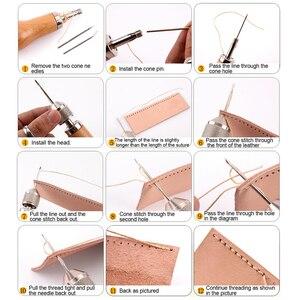 LMDZ Leder Nähen Ahle Gewinde Kit Manuelle Nähmaschine Schnelle Stitcher Leder Handwerk Nähen Schuster Leinwand Reparatur Werkzeug