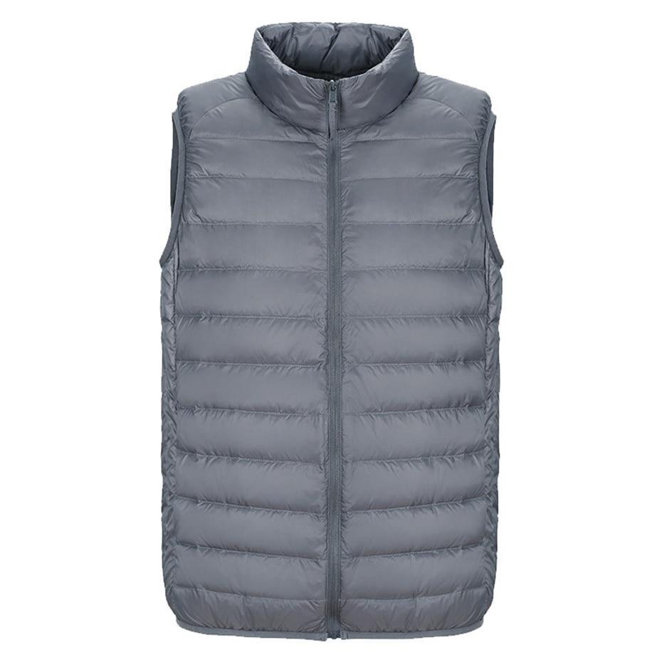 ZOGAA 2019 Men's Sleeveless Down Vests Ultralight Duck Down Warm Vest Parkas Men's Casual Warm Jackets Parka Outwear Waistcoat