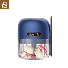 Youpin Deerma JS200 – broyeur électrique Portable, Rechargeable, avec Mini cuillère propre, pour viande, ail, légumes, fruits, rangement facile