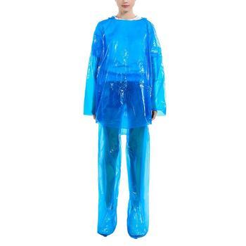 5 10 sztuk Unisex jednorazowy płaszcz deszczowy zestaw pyłoszczelna PE klej wodoodporny pcv rozmiar kombinezon przeciwdeszczowy do uprawiania turystyki pieszej wędkowanie Anti-fog tanie i dobre opinie adhesive Raincoat suit Disposable Rainwear Single-person Rainwear Nylon Adults Climbing MEN women support Disposable Protection Suit