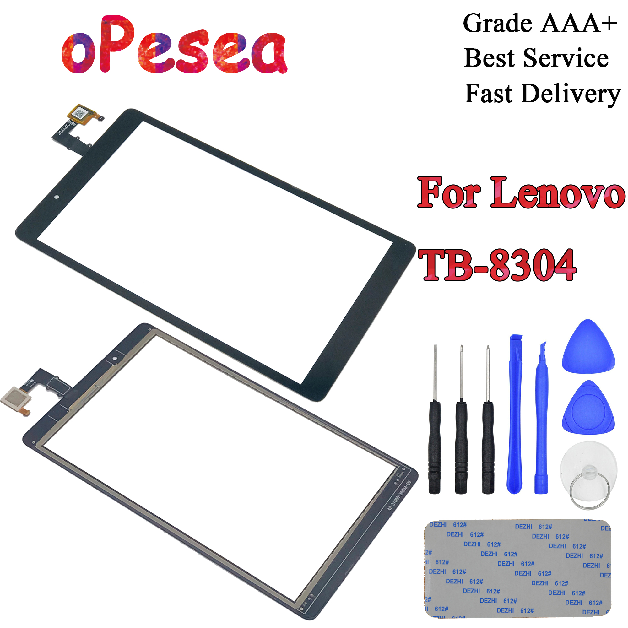 OPesea 8.0'' For Lenovo Tab E8 8 TB-8304F1 TB-8304F TB-8304 Tablet PC New Touch Screen Digitizer Front Panel Sensor Glass