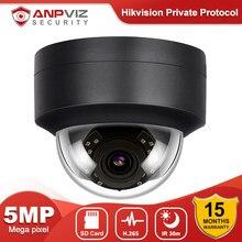 Anpviz 5mp dome poe câmera ip de segurança ao ar livre embutido microfone cctv vigilância 2.8mm lente fixa grande angular ir 30m onvif