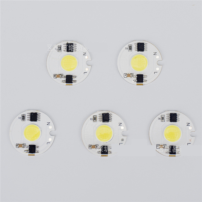 10pcs COB LED Chip light source 3W <font><b>5W</b></font> 7W 10W 12W Lamp beads Smart IC No Need Driver LED <font><b>Bulb</b></font> Lamp For Floodlight Spotlight 110V image