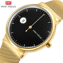 MINI FOCUS Men Watches 2019 Luxury Brand Stainless Steel Analog Quartz Watch Waterproof Clock Mens Wrist Relogio