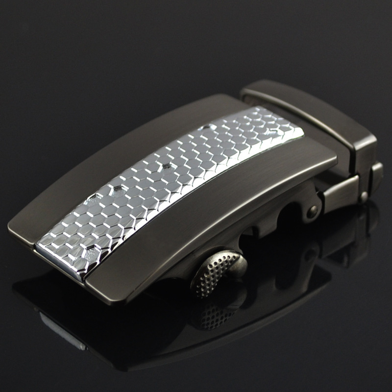 Fashion Men's Business Alloy Automatic Buckle Unique Men Plaque Belt Buckles For3.5cm Ratchet Men Apparel Accessories LY125-0353