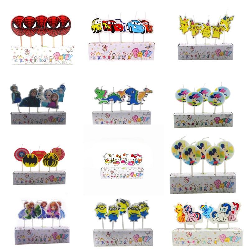Fine Best Sale A32Df 5Pcs Lot Spiderman Pikachu Mickey Cake Toppers Funny Birthday Cards Online Unhofree Goldxyz