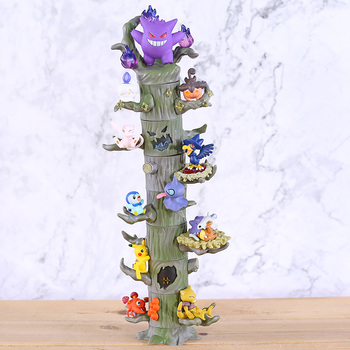 Monster Forest Figures Gengar Mew Ditto Cubone Litwick Pumpkaboo Paras Abra Piplup Shuppet Murkrow Mini Toys 8pcs/set image