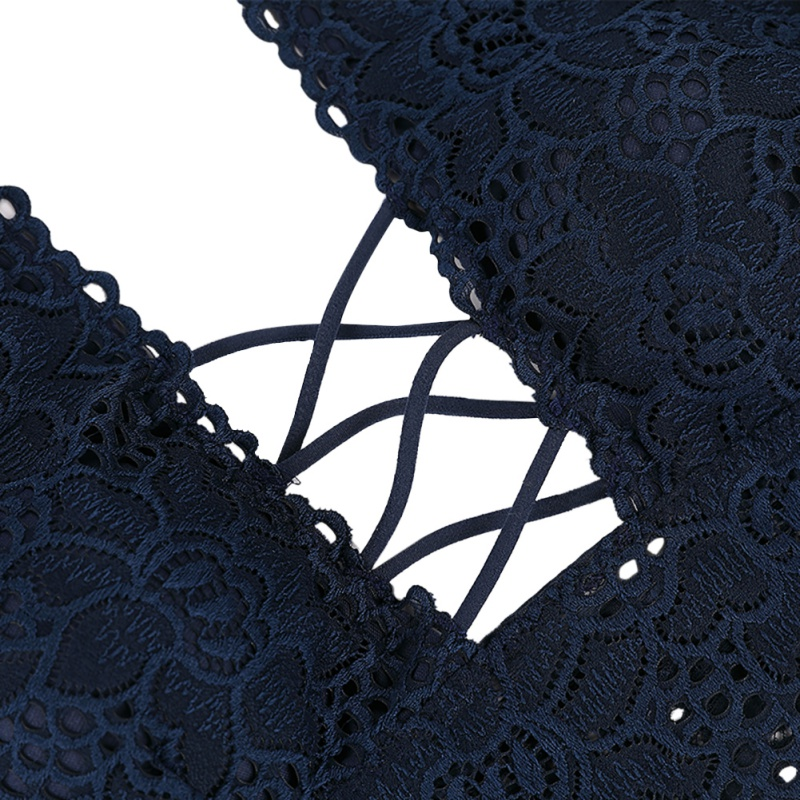 Sexy Bandage Lace Cross Belt Hollow Bra 2019 Lingerie Bra Set Intimates Underwear Set Lace Push Up Wire Free Bra and Panty Set in Bra Brief Sets from Underwear Sleepwears