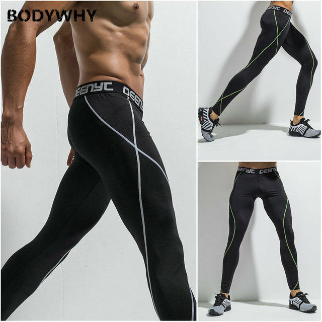 Mens Gym Sport Thermal Tight Compression Base Layer Pants Long Leggings Trousers  Skinny  Full Length 2