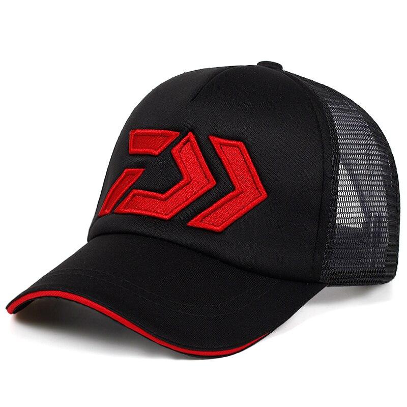 2020 New Summer Sun Cap Breathable Wicking Mesh Visor Ventilation Adjustable Sun Hat Daiwa Male Outdoor Fishing Brand Caps