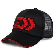 2020 nouveau été chapeau de soleil respirant mèche maille visière Ventilation réglable chapeau de soleil Daiwa mâle en plein air pêche marque casquettes