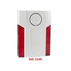 Fokus 433Mhz 868Mhz MD-334R Drahtlose Externe Strobe-sirene outdoor LED Licht Blinkende Sirene horn Mit 12V DC Netzteil