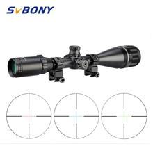 Svbony 4 16x50 ao rifle mira cruzada verde vermelho iluminado tático óptica riflescope caça sniper airsoft armas ar sv173