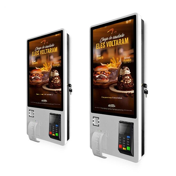 Одномерный код двухмерный код сканирующее устройство встроенный в камеру и 4G modual и принтер самообслуживания заказ киоск