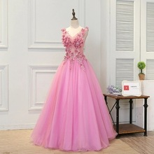 2020 New Flower Fairy Performance Costume V-Neck Bandage Tutu Bridesmaid Dresses Long Party Dress Wedding Guest Sexy
