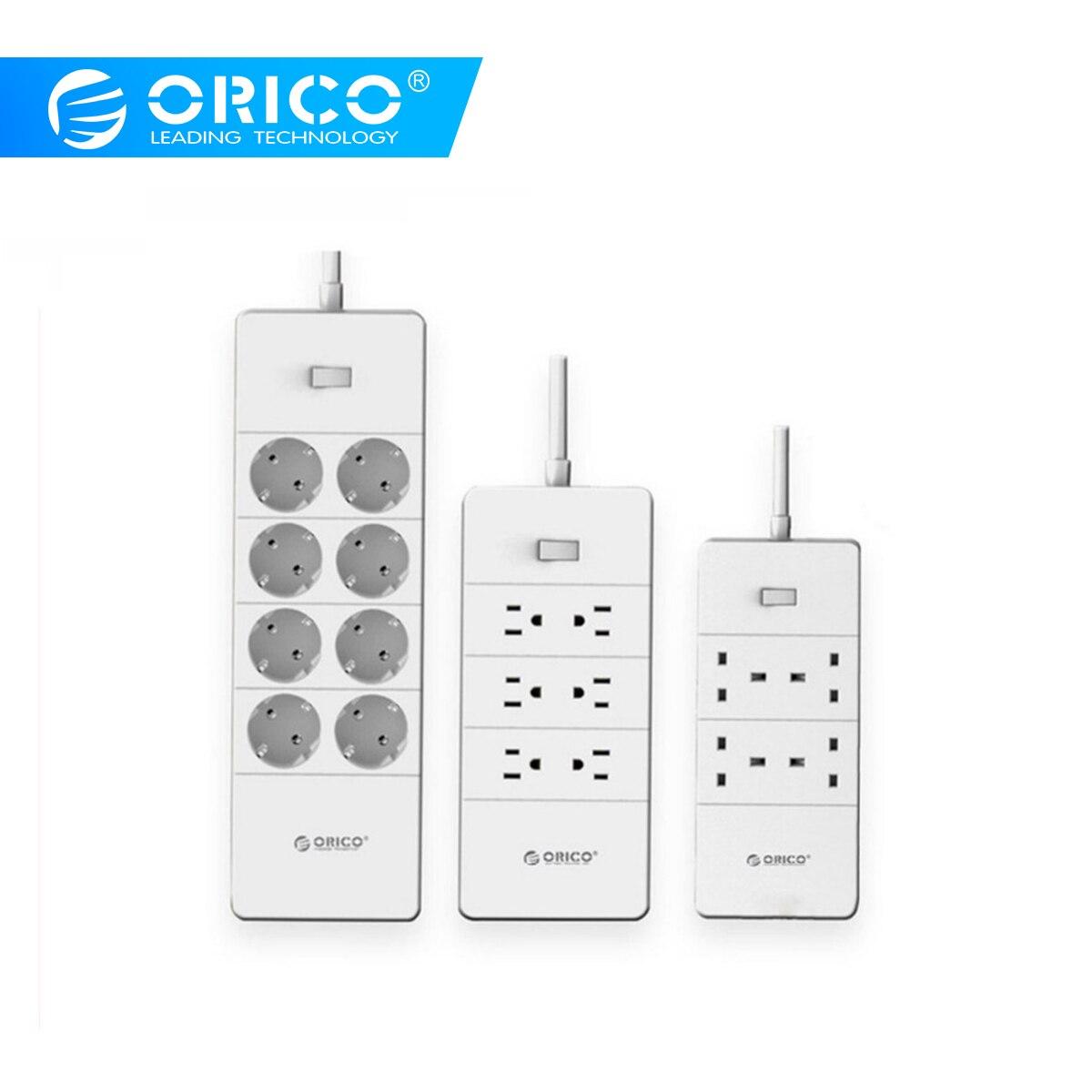 ORICO multiprise parafoudre 5 Ports USB ue royaume-uni prise d'extension américaine 4 6 8 prises ca multifonctionnelles Smart Home Electronics