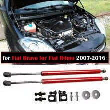 Molde de ferramentas de gás para fiat bravo, para fiat ritmo 2007-2016 2x, capuz frontal, fibra de carbono suporte de elevador
