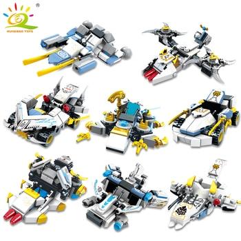 """Конструктор HUIQIBAO """"Робот-трансформер"""", 950 шт., 8 в 1 4"""
