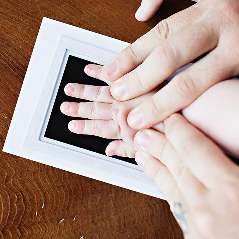 Empreinte main impression bébé douche peinture tampon d'encre cadeaux d'anniversaire souvenirs souvenirs impression avec papier nouveau-né jouets pour bébés