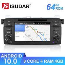 Isudar 1 Din araba multimedya oynatıcı Android 10 GPS Autoradio Stereo sistemi için BMW/E46/M3/Rover/3 serisi RAM 4G ROM 64GB FM radyo