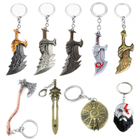New God of War Kratos Weapon Blades of Chaos Alloy Key Chains Keychain Keyring