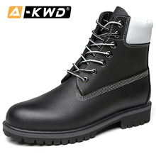 Fashion Shoes 2019 High Top Tooling Men Genuine Leather Mens Winter Boots Lace-up Autumn Single Plus Size 38-47