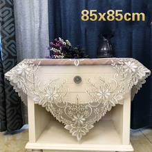 European Mesh Fabric Lace Embroidered Tablecloth Furniture Restaurant Fireplace Christmas Wedding Party Banquet Decoration Cloth