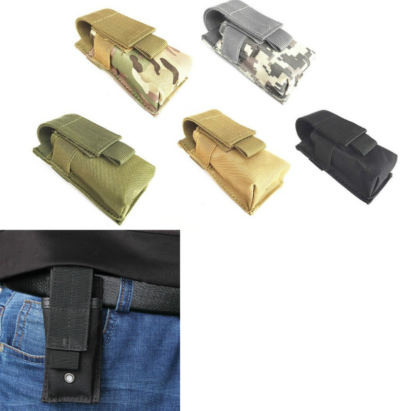 Molle Tactical M5 Flashlight Hunting Light Case Knife Pistol Torch Pouch Outdoor Pouch Holster Holder Single Magazine Bag