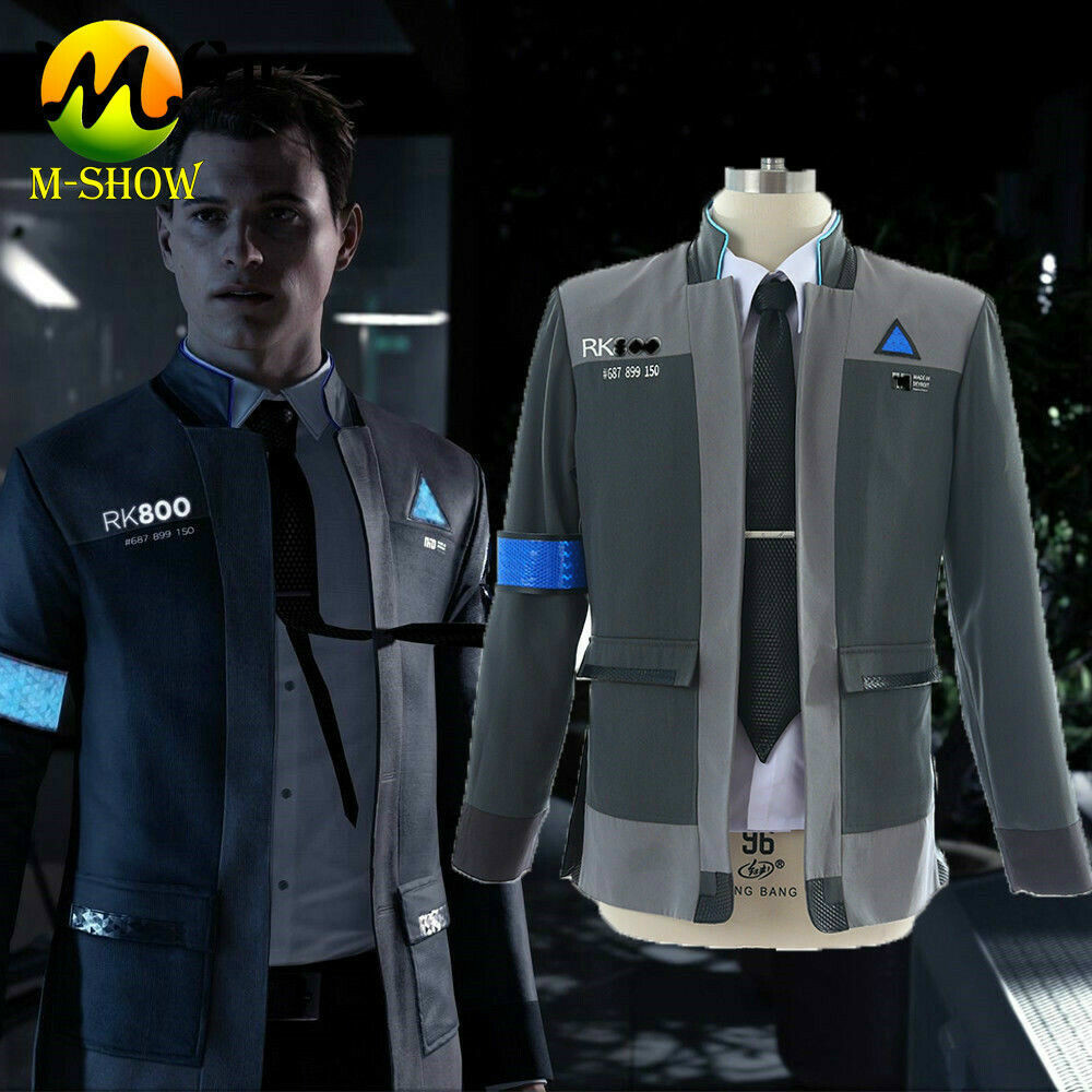Game Detroit Become Human Connor Cosplay Costume Rk800 Agent Uniform Jacket Shirt Tie Halloween Outfit For Adult Men Custom Made Movie Tv Costumes Aliexpress