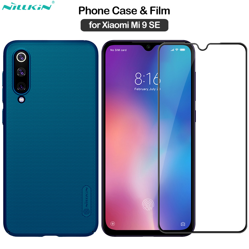 Nillkin for <font><b>Xiaomi</b></font> Mi 9 SE Case 9SE Frosted Shield Cover + <font><b>Amazing</b></font> CP+PRO Full Cover Tempered Glass for <font><b>Xiaomi</b></font> Mi9 SE Film image