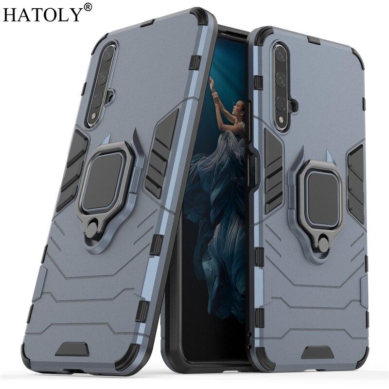 Hard Finger Ring Phone Case For Huawei Nova 5T Shell Bumper Armor TPU Case For Huawei Nova 5T 2