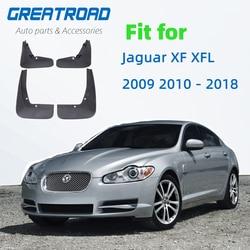 4 pces do carro dianteiro traseiro lama flap respingo guardas para jaguar xf xfl 2009 2010-2018 fender mudflap acessórios de automóvel aba de lama